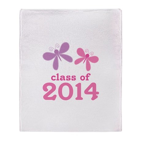2014 Girls Graduation Throw Blanket