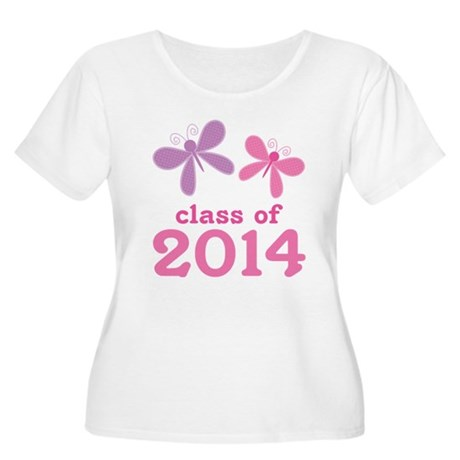 2014 Girls Graduation Women's Plus Size Scoop Neck