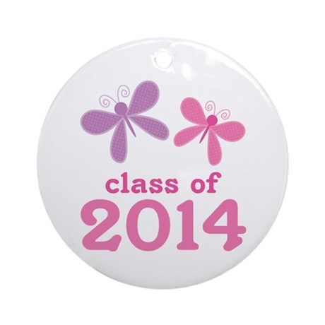2014 Girls Graduation Ornament (Round)