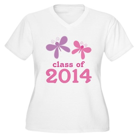 2014 Girls Graduation Women's Plus Size V-Neck T-S