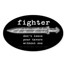 Fighter's Sword Oval Decal