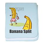 Banana split funny baby blanket