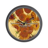 Van Gogh Painting &amp; Quote Wall Clock