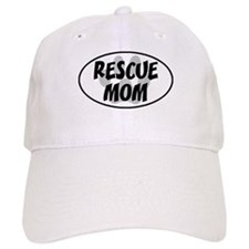 Rescue Mom White Oval Baseball Cap