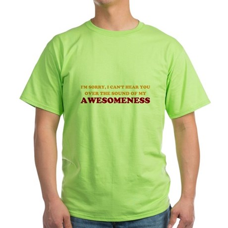 Sound of Awesomeness Green T-Shirt