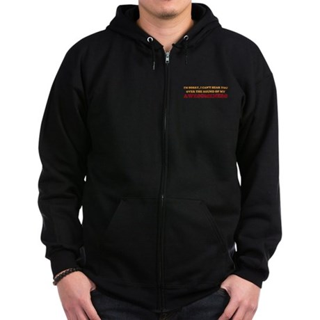 Sound of Awesomeness Zip Dark Hoodie