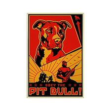 Obey the Pit Bull! Propaganda Magnet