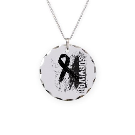 Survivor Melanoma Necklace Circle Charm