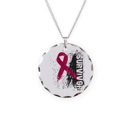 Survivor Multiple Myeloma Necklace Circle Charm