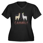 CAAAARL!! Women's Plus Size V-Neck Dark T-Shirt