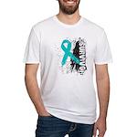 Survivor Ovarian Cancer Fitted T-Shirt