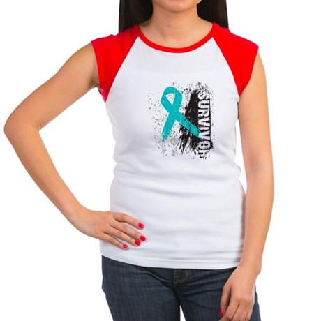 Survivor Ovarian Cancer Women's Cap Sleeve T-Shirt