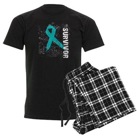 Survivor Ovarian Cancer Men's Dark Pajamas