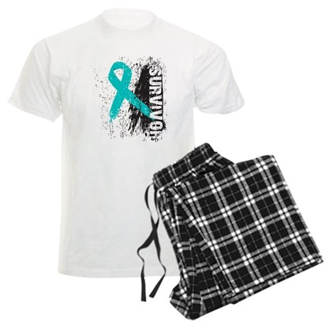 Survivor Ovarian Cancer Men's Light Pajamas