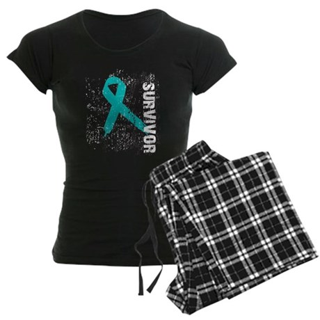 Survivor Ovarian Cancer Women's Dark Pajamas