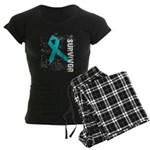 Survivor Ovarian Cancer Women's Dark Pajamas