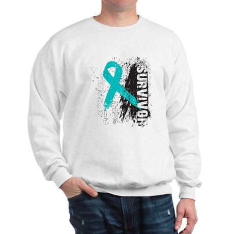 Survivor Ovarian Cancer Sweatshirt