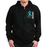 Survivor Ovarian Cancer Zip Hoodie (dark)