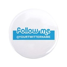 "Personalizable Twitter Follow 3.5"" Button (100 pac"