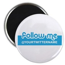 "Personalizable Twitter Follow 2.25"" Magnet (10 pac"