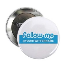 """Personalizable Twitter Follow 2.25"""" Button (10 pac"""