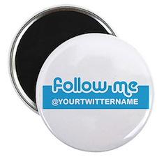 Personalizable Twitter Follow Magnet