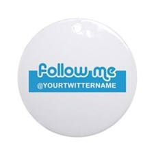 Personalizable Twitter Follow Ornament (Round)