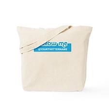 Personalizable Twitter Follow Tote Bag