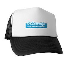Personalizable Twitter Follow Trucker Hat