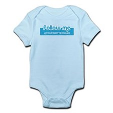 Personalizable Twitter Follow Infant Bodysuit