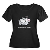 Angel Bull Terrier Women's Plus Size Scoop Neck Da