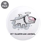 "Angel Bull Terrier 3.5"" Button (10 pack)"