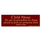 """Cowardice"" Bumper Bumper Sticker"