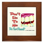 Do you Floss? Framed Tile