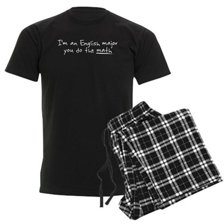 Im and english major Men's Dark Pajamas