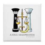 Justice / Priestess Tile Coaster