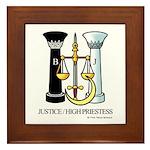 Justice / Priestess Framed Tile