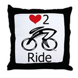 Love 2 ride Throw Pillow