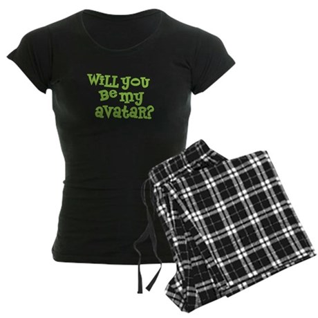 Will you be my avatar? Women's Dark Pajamas