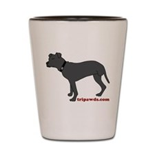 Rear Leg Tripawd Pit Bull Shot Glass