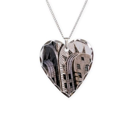 Chrysler Building! Necklace Heart Charm