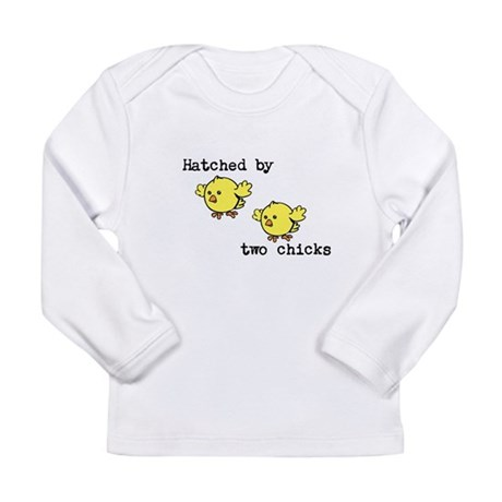 Hatched by two chicks Long Sleeve Infant T-Shirt
