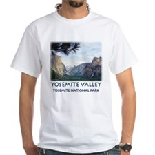 Yosemite Valley View t-shirt--white