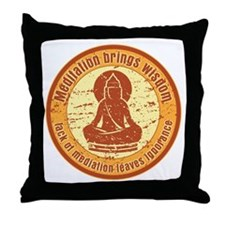 Buddha Meditation Wisdom Throw Pillow