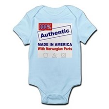 Made in America with Norwegian Parts Infant Creepe