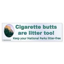 """Cigarette butts are litter too!"""