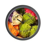 Time To Bloom Wall Clock