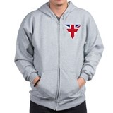 Great Britain Union Flag  Zip Hoodie