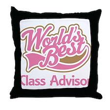 Class Advisor Throw Pillow