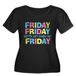 Friday Friday Women's Plus Size Scoop Neck Dark T-
